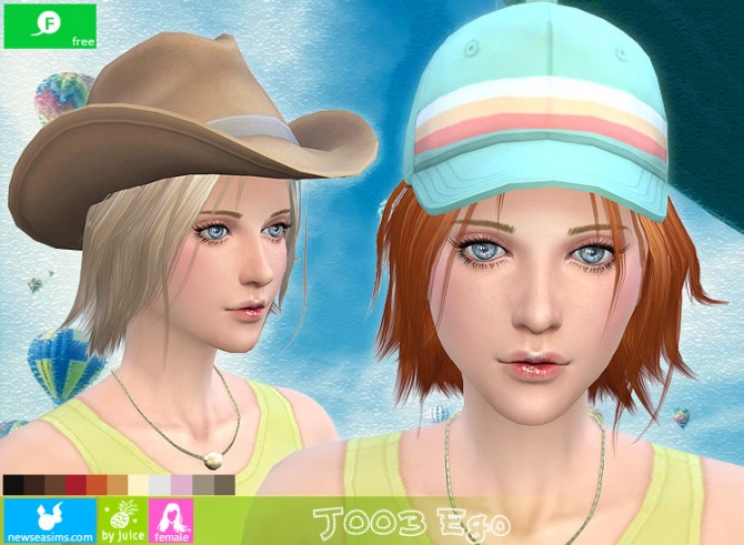 Sims 4 J003 Ego hair (Free) at Newsea Sims 4