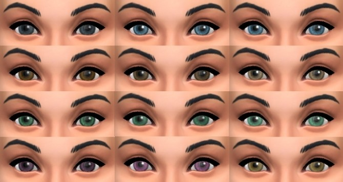 Sims 4 Set of Bashful Eyes by pinkleafsims at Mod The Sims