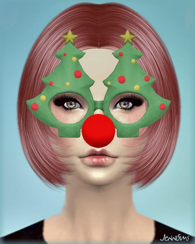 Sims 4 Christmas Tree Glasses by Jennisims at Jenni Sims