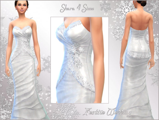 Festive Wedding dress at Shara 4 Sims image 7015 Sims 4 Updates