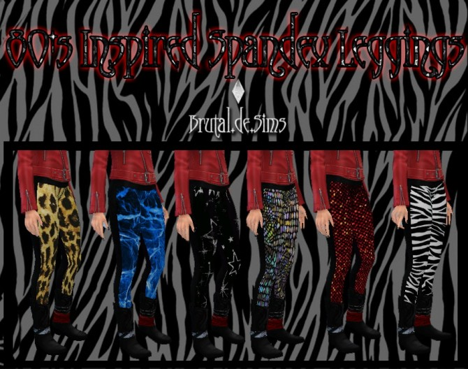 Sims 4 80s Inspired Spandex at Brutal de Sims4