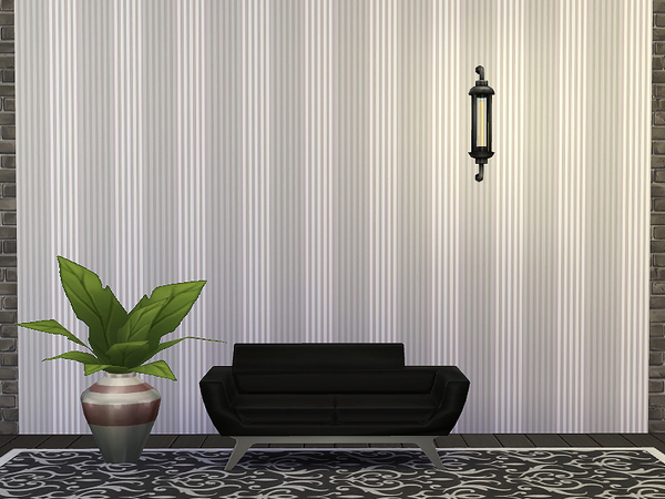 Striped Wallpaper by Rirann at TSR image 7129 Sims 4 Updates