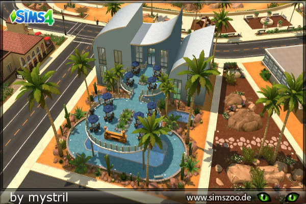 Sims 4 Wave Fitness center by mystril at Blacky's Sims Zoo
