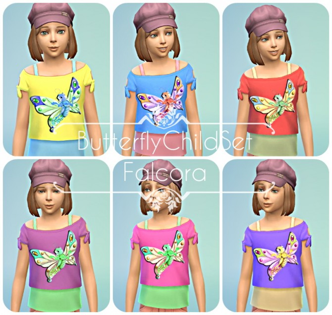 Butterfly Child Set at Petka Falcora image 723 Sims 4 Updates