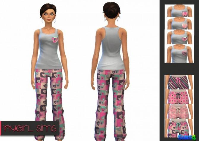 Hearts Pajama at NyGirl Sims image 7313 Sims 4 Updates