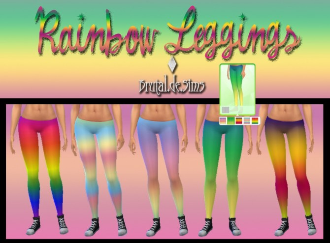 Rainbow Leggings at Brutal de Sims4 image 7316 Sims 4 Updates