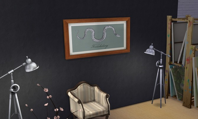 Sims 4 Fourchelang painting at K hippie