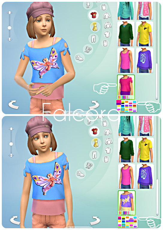 Sims 4 Butterfly Child Set at Petka Falcora