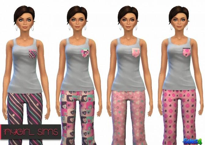 Hearts Pajama at NyGirl Sims image 7412 Sims 4 Updates