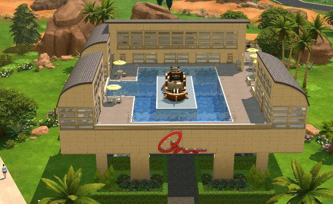 Sims 4 Shopping Center with parking lot by erfadk at Mod The Sims