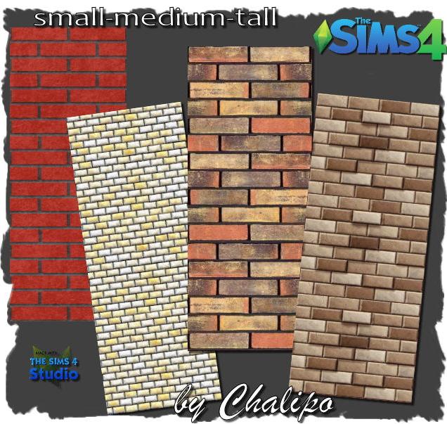 Sims 4 Brick walls by Chalipo at All 4 Sims