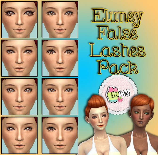 Blush, freckles, moles and false lashes at Eluney Design image 7614 Sims 4 Updates