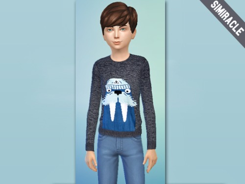 Sims 4 Walrus Boy Sweater at Simiracle