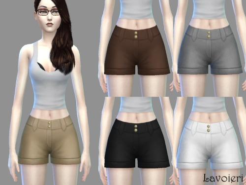 Nettie Shorts 5 neutral tones at Lavoieri image 7771 Sims 4 Updates