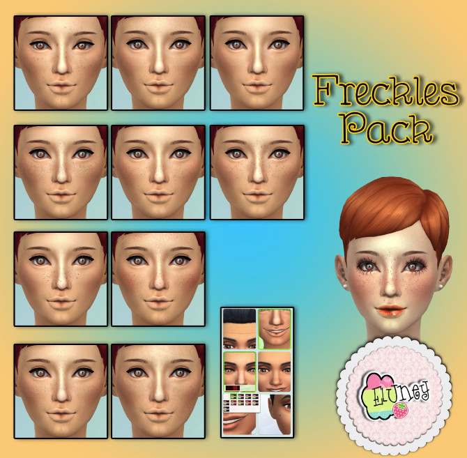 Blush, freckles, moles and false lashes at Eluney Design image 7814 Sims 4 Updates