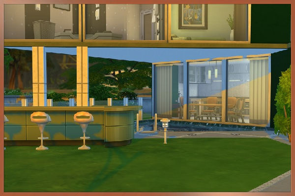 Sims 4 TriModern house by Kosmopolit at Blacky's Sims Zoo