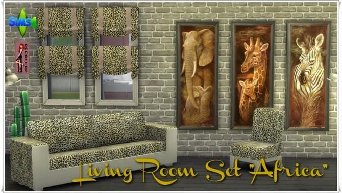 Sims 4 Africa Living Room Set at Annett's Sims 4 Welt