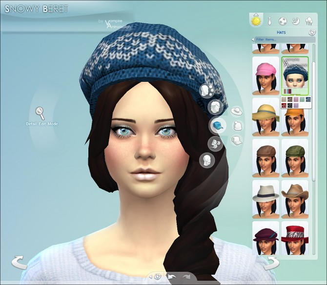 Sims 4 Snowy Beret by Vampire aninyosaloh at Mod The Sims