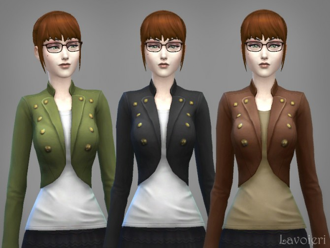 Military Jacket 9 Recolors at Lavoieri image 802 Sims 4 Updates