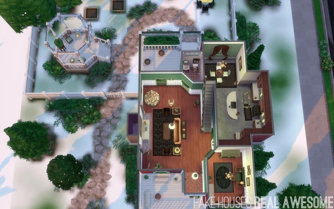 Hollyside house at fake houses real awesome sims 4 updates for Awesome sims