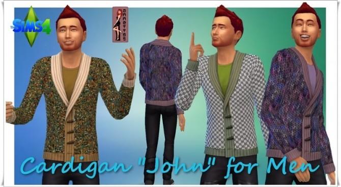 Sims 4 John Cardigan for males at Annett's Sims 4 Welt
