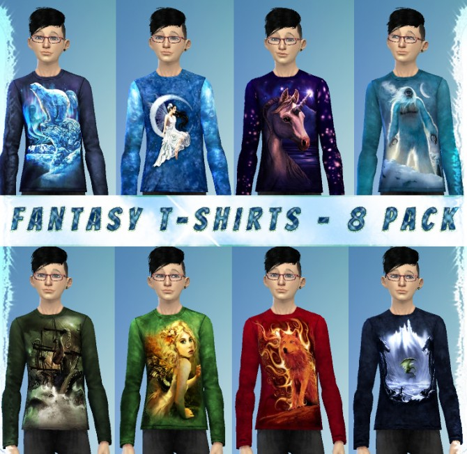 4c81acb827 ... 8 Fantasy T shirts for Males by xegtx at Mod The Sims image 8117 Sims 4  ...