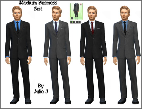 Male Business Suits Recoloured at Julie J image 8123 Sims 4 Updates