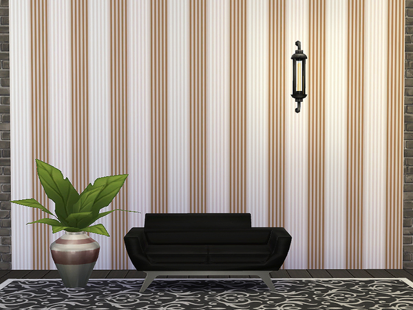 Striped Wallpaper by Rirann at TSR image 8129 Sims 4 Updates