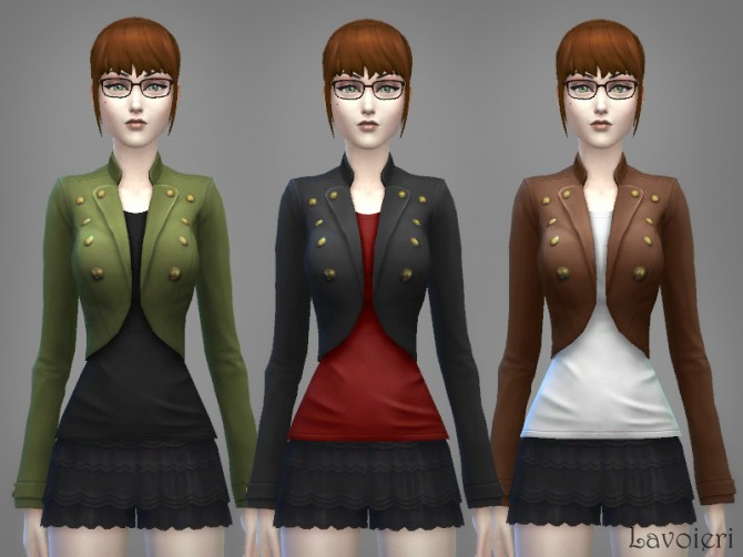 Military Jacket 9 Recolors at Lavoieri image 813 Sims 4 Updates