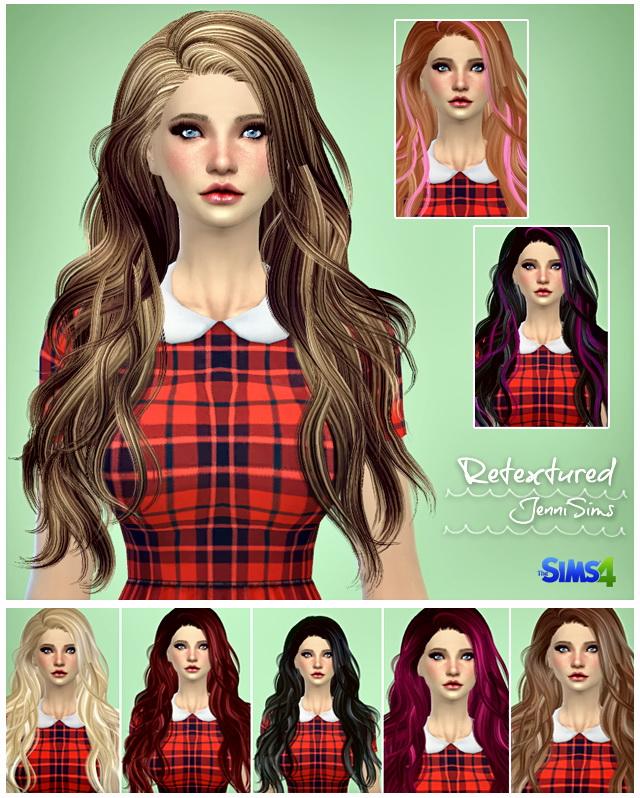 Sims 4 Elasims Hairs Converted Retexture at Jenni Sims