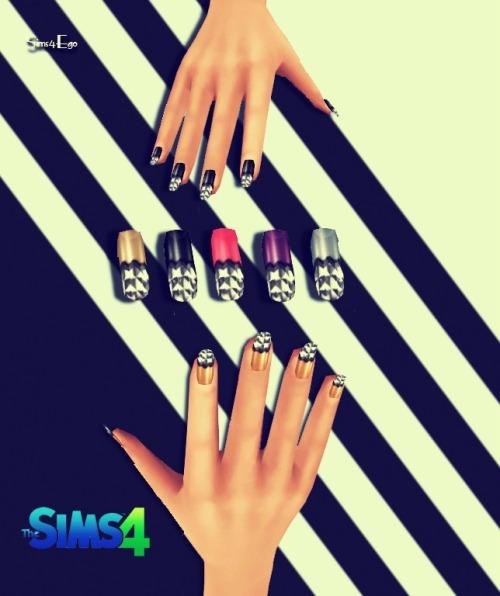 Sims 4 13 recolors of NataliS Metallic nails at Sims 4 Ego
