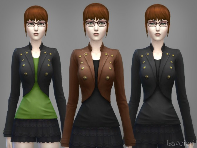 Military Jacket 9 Recolors at Lavoieri image 822 Sims 4 Updates