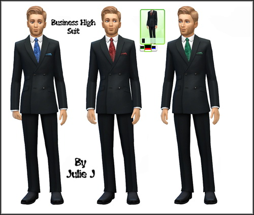 Sims 4 Male Business Suits Recoloured at Julie J