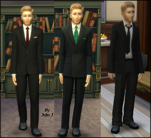 Male Business Suits Recoloured at Julie J image 8318 Sims 4 Updates