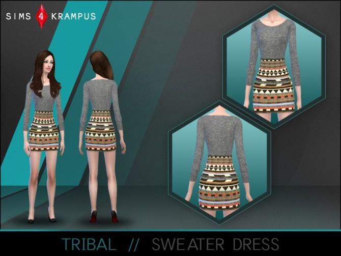 Sims 4 Tribal sweater dress at Sims 4 Krampus
