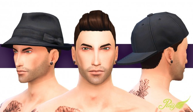 Sims 4 Shaved Pompadour Male Hair Edit by Peacemaker IC at Simsational Designs