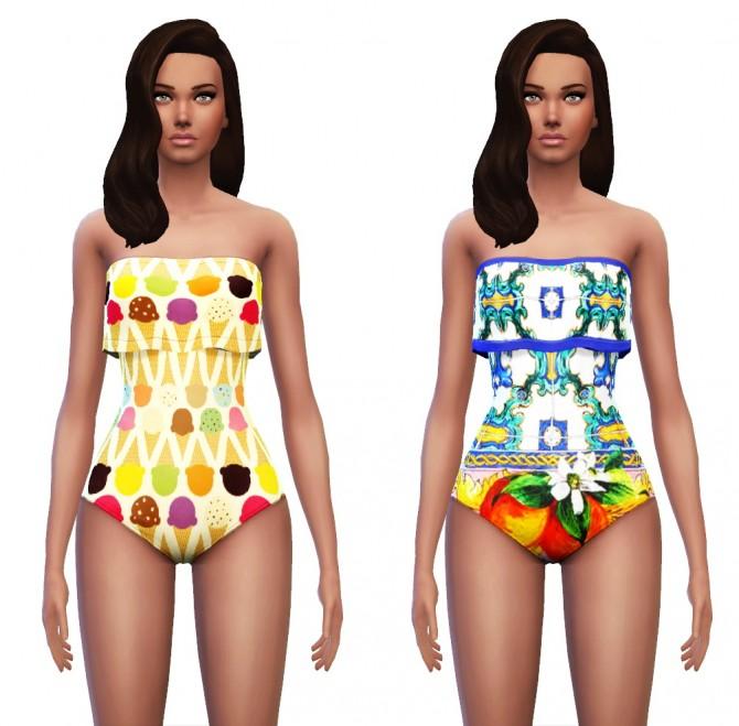 Sims 4 Ruffle Swimwear/Beachwear at Sim4ny