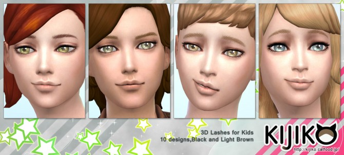 3D Lashes for Kids at Kijiko image 8810 Sims 4 Updates