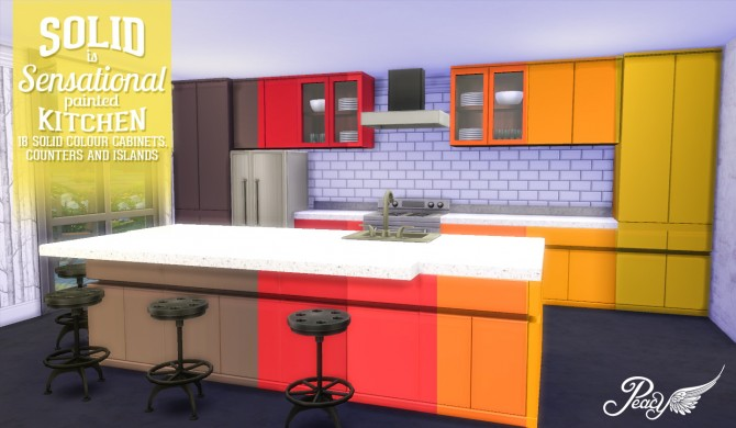 Sims 4 Solid Is Sensational Painted Kitchen at Simsational Designs