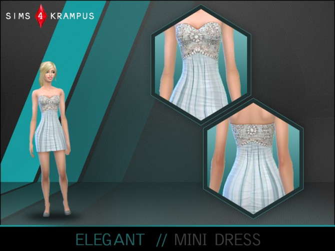 Elegant mini dress at Sims 4 Krampus image 895 Sims 4 Updates