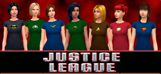 Sims 4 Justice League T shirts at My Stuff