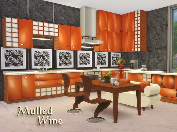 Sims 4 Mulled Wine kitchen/dining by Kiolometro at TSR