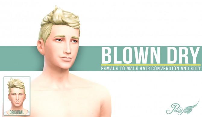 Sims 4 Blown Dry FtoM Hair Conversion and Edit at Simsational Designs