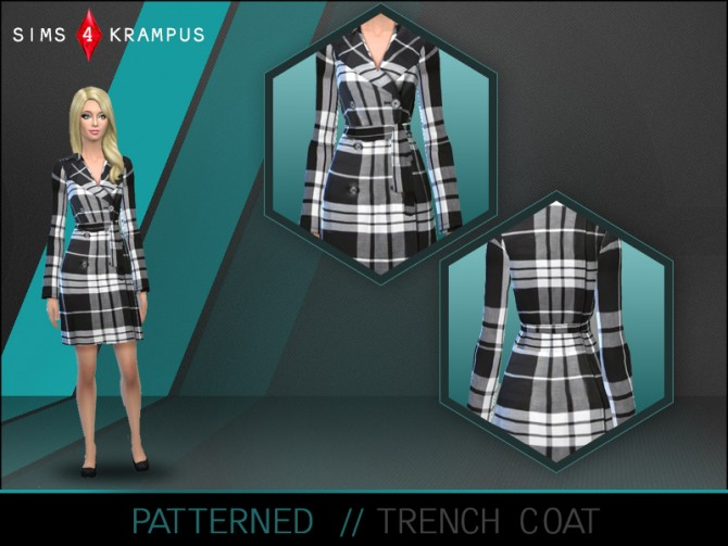 Sims 4 Trench coat at Sims 4 Krampus