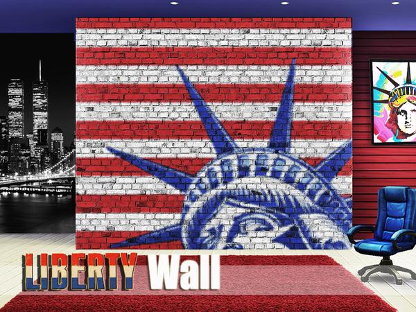 Sims 4 Liberty Wall by Pinkzombiecupcakes at TSR