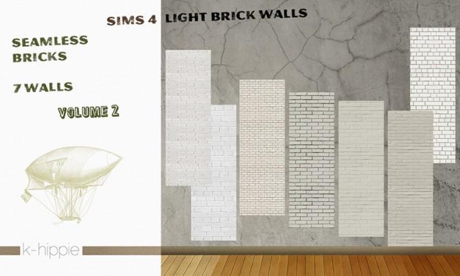 7 brick walls light vol2 at K hippie image 951 Sims 4 Updates