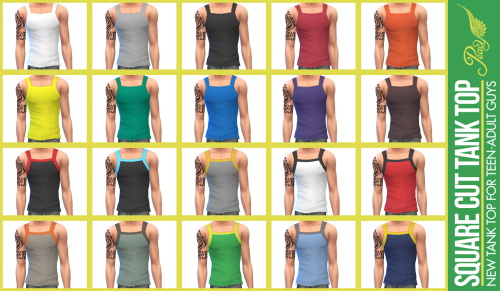 Sims 4 Tank tops mesh edit and retexture at Simsational Designs