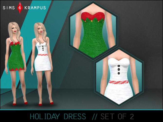 Sims 4 Holiday dress at Sims 4 Krampus