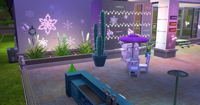 Sims 4 Snowflakes wall decal at Simply Simming