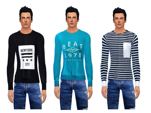 Casual sweater collection male by simsoertchen at TSR image 971 Sims 4 Updates